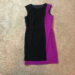 AB Studio Black and Purple dress